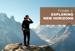 Freedom is... Exploring Horizons