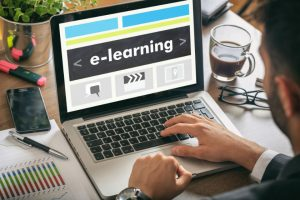 e learning business strategy on laptop