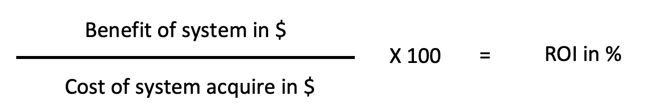 Feasibility Study ROI Calculation